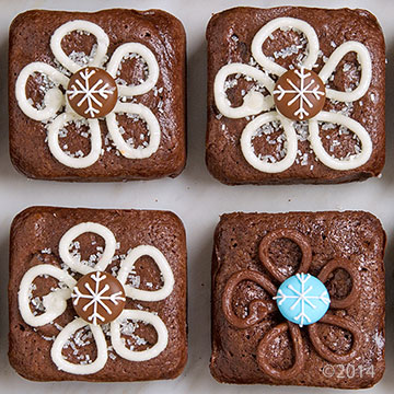 Brownie Snowflakes